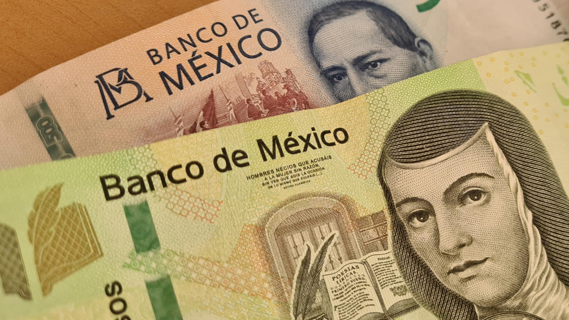Dinero pesos billetes México economía