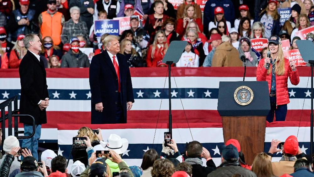 Trump lidera abarrotado mitin en Georgia pese a repunte de contagios en EE.UU. - Foto de EFE