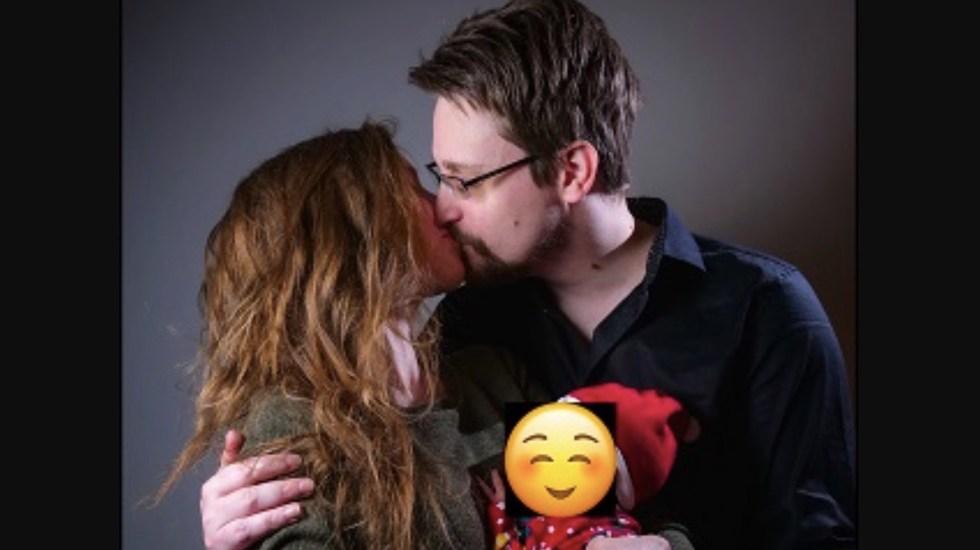 Nació el primer hijo de Edward Snowden - Foto de Twitter Edward Snowden