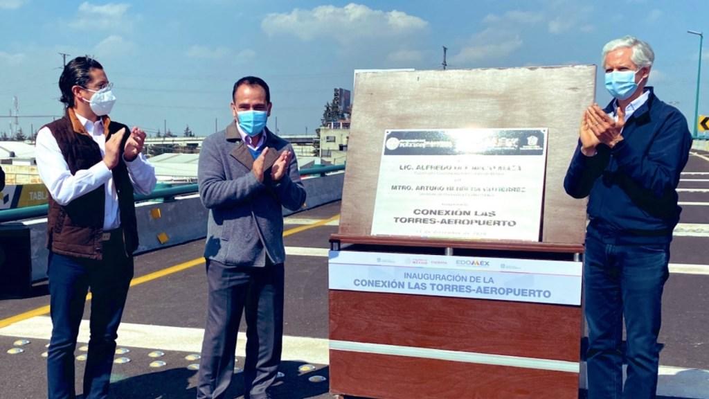 Inauguran Del Mazo y Herrera Distribuidor Conexión Las Torres-Aeropuerto - Foto de Twitter Arturo Herrera