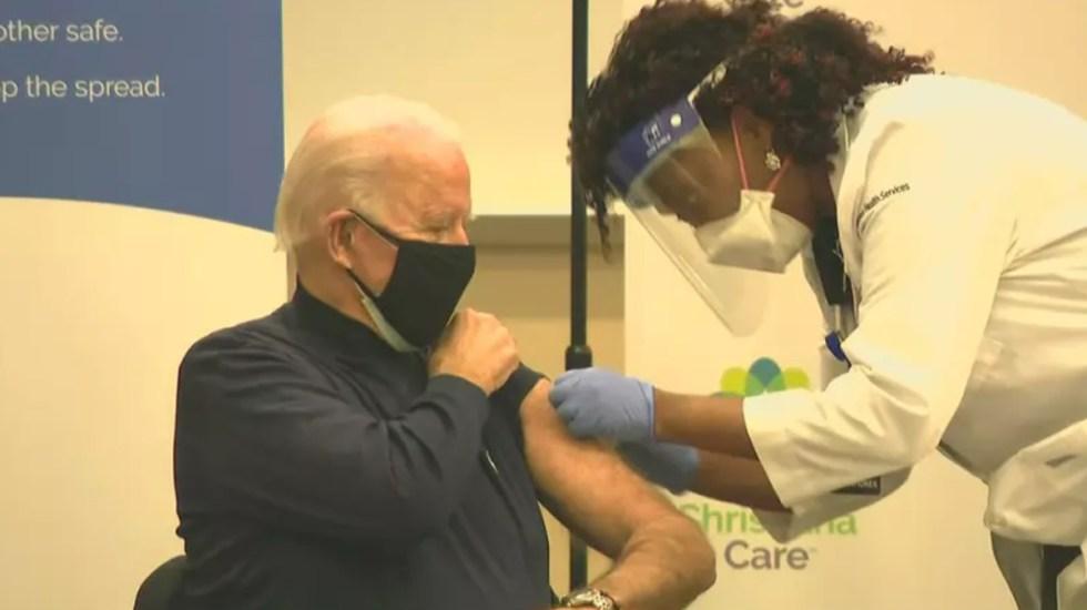 #Video Joe Biden recibe vacuna contra COVID-19 - Joe Biden se vacuna contra COVID-19. Foto de CNN