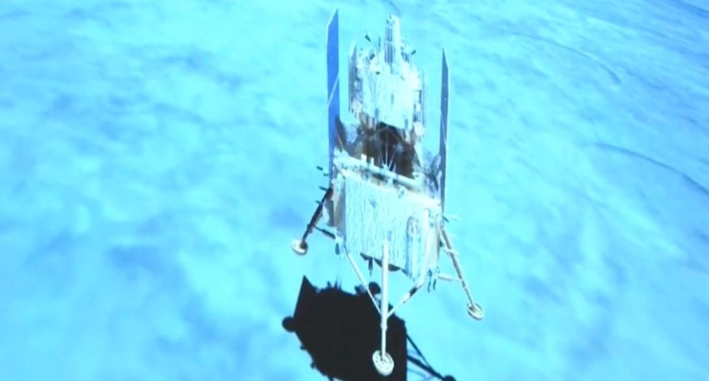 La sonda china Chang'e 5 aluniza con éxito en misión de recogida de muestras. Noticias en tiempo real