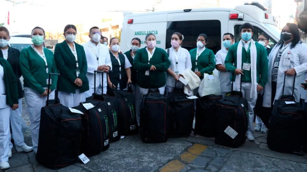 Médicos de otros estados llegan a Ciudad de México para apoyar contra COVID-19 - Médicos de otros estados llegan a Ciudad de México para apoyar contra COVID-19. Foto Twitter @Hroblespeiro