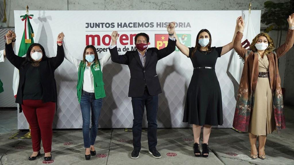 Pacta Morena coalición con PVEM y PT por mayoría en Cámara de Diputados - Morena cierra alianza con Partido Verde y PT. Foto de @mario_delgado