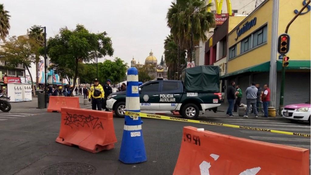 Atropellan a dos policías durante operativo en Basílica de Guadalupe - Operativo vial en inmediaciones de la Basílica de Guadalupe. Foto de @SSC_CDMX
