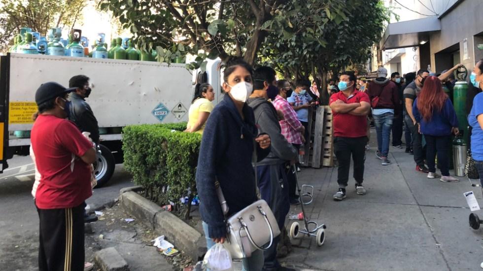 """""""No hay oxígeno"""": la escasez que asfixia a los enfermos de Ciudad de México - Foto de @paloma_cabreray"""