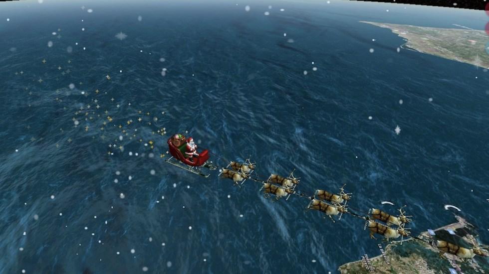 ¿Cómo saber dónde está ahora Santa Claus y hacia dónde va? - Captura de pantalla