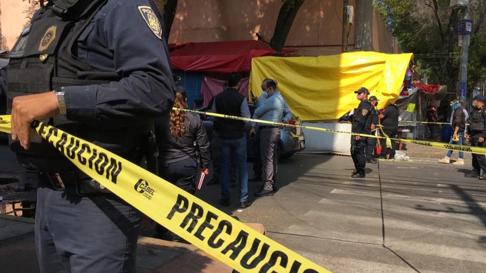Matan en la Miguel Hidalgo a policía de Investigación - Zona acordonada del asesinato de un policía en la CDMX. Foto de @Delta25MX