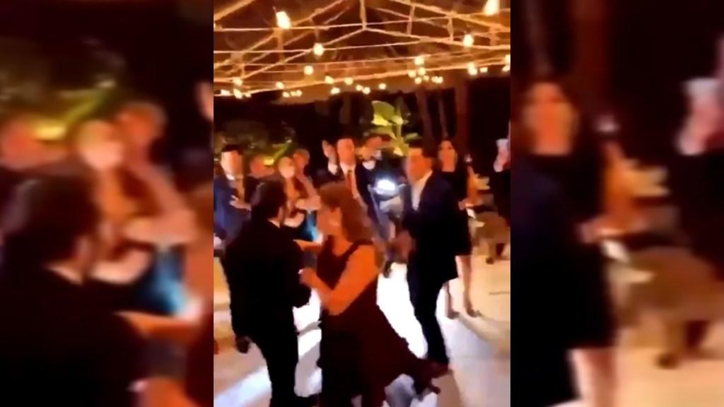 #Video Festejan boda en la Álvaro Obregón pese a exhorto de SSC a cancelarla - Boda en la alcaldía Álvaro Obregón. Captura de pantalla