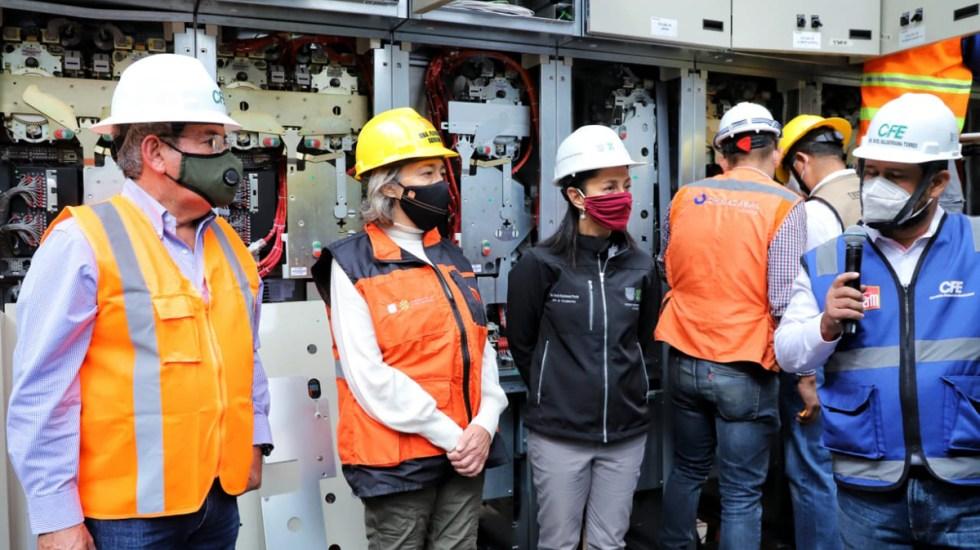 Promete Sheinbaum modernizar servicio en Líneas 1, 2, 3, 4, 5 y 6 del Metro - Claudia Sheinbaum en recorrido de supervisión de trabajos en el Metro. Foto de @MetroCDMX