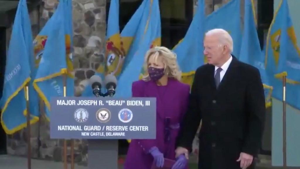 """#Video """"Cuando muera, Delaware estará escrito en mi corazón"""", Joe Biden, con lágrimas, deja su estado para viajar a Washington - Captura de pantalla"""