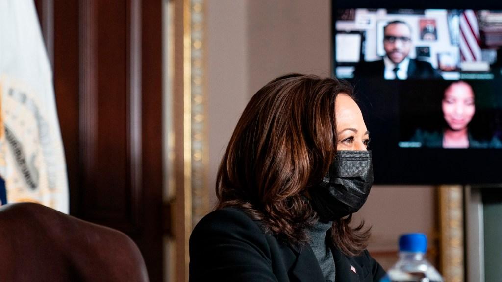 La vicepresidenta Kamala Harris recibe su segunda dosis de la vacuna contra el COVID-19 - La vicepresidenta de EE.UU. Kamala Harris recibe su segunda dosis de la vacuna contra el COVID-19. Foto Twitter @VP