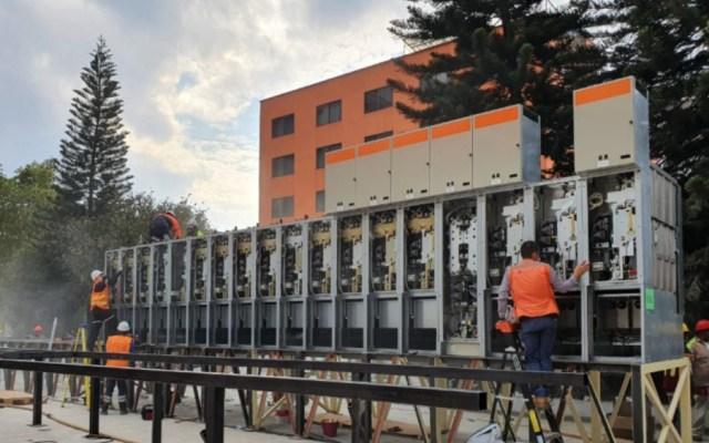 Monta CFE subestación de potencia para restablecer suministro eléctrico en el Metro - Foto de CFE