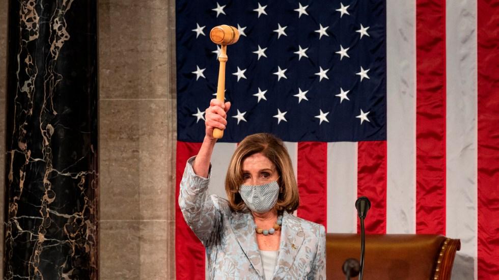 Esta noche se reanuda la sesión del Congreso de EE.UU. para ratificar elección, confirma Nancy Pelosi - Nancy Pelosi envía carta a legisladores para retomar votación y confirmar triunfo de Biden . Foto Twitter @SpeakerPelosi