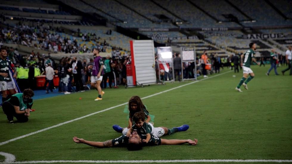 Cabezazo agónico de Breno Lopes da segundo título a Palmeiras de Copa Libertadores - Foto de EFE/ Ricardo Moraes POOL.