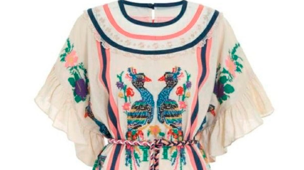 Denuncian a marca australiana de plagiar textiles de comunidades mazatecas - Reprueban en Oaxaca plagio de textiles mazatecos por marca australiana de ropa. Foto Twitter @IOA_GobOax