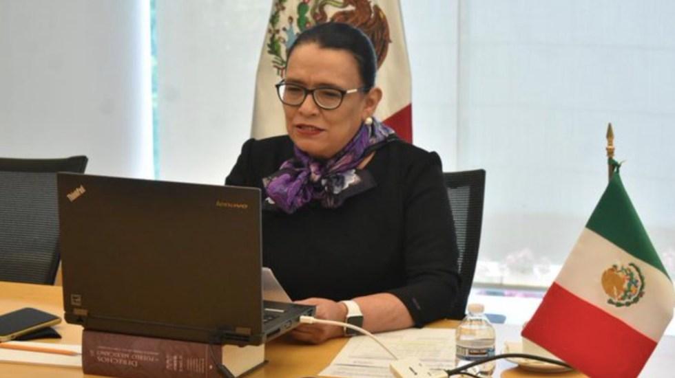 Rosa Icela Rodríguez confirma segundo negativo en prueba PCR tras contacto con el presidente López Obrador - Foto de Twitter Rosa Icela Rodríguez