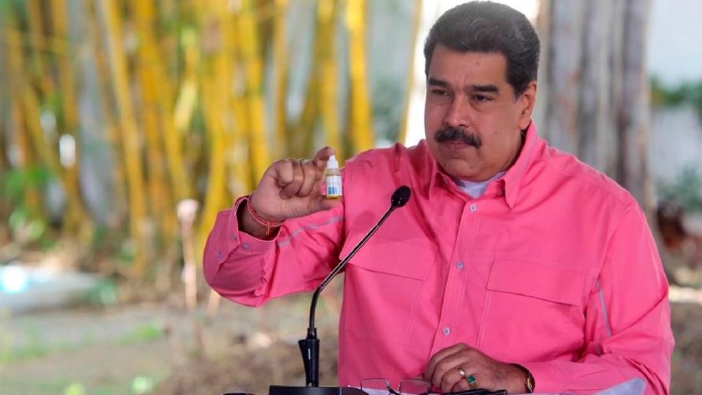 Venezuela publicará estudios del Carvativir, recomendado por Maduro contra el COVID-19 - Venezuela publicará estudios del fármaco Carvativir, recomendado por Maduro contra el COVID-19. Foto EFE