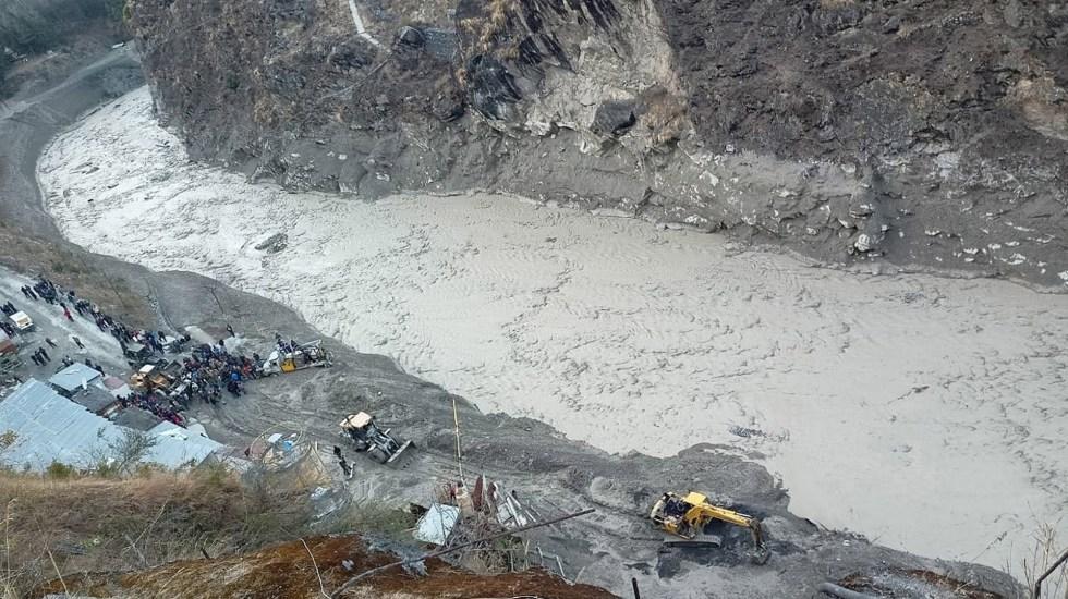 #Video Avalancha en India deja 9 muertos y al menos 150 desaparecidos - Avalancha de lodo y agua en India. Foto de EFE
