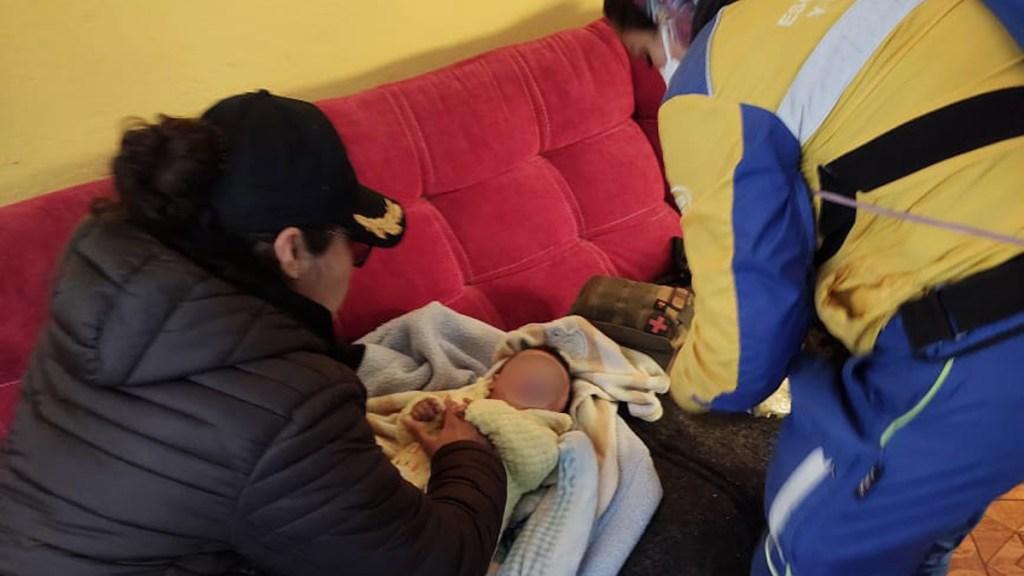 Abandonan a bebé en calles de la Venustiano Carranza - Bebé abandonada en la alcaldía Venustiano Carranza. Foto de SSC-CDMX
