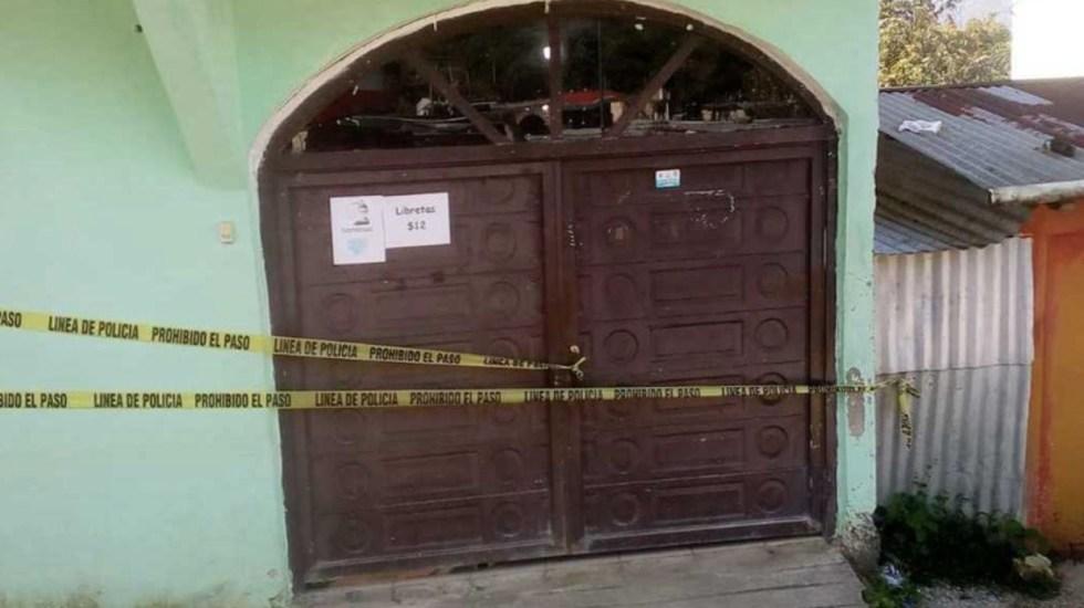 Catean casa del presunto acosador de Mariana Sánchez en Ocosingo - Foto de Fiscalía Chiapas