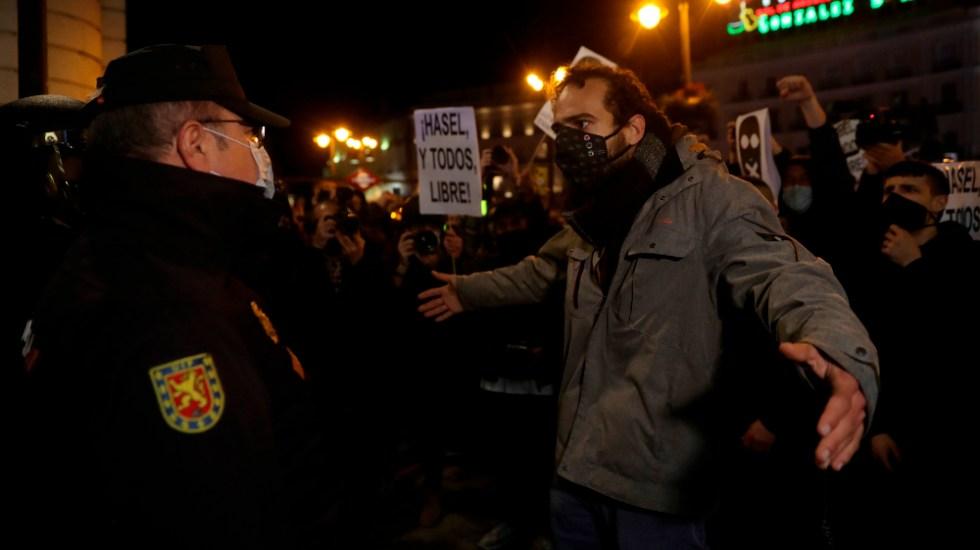 Violentos disturbios en España para exigir libertad de rapero encarcelado - Foto de EFE