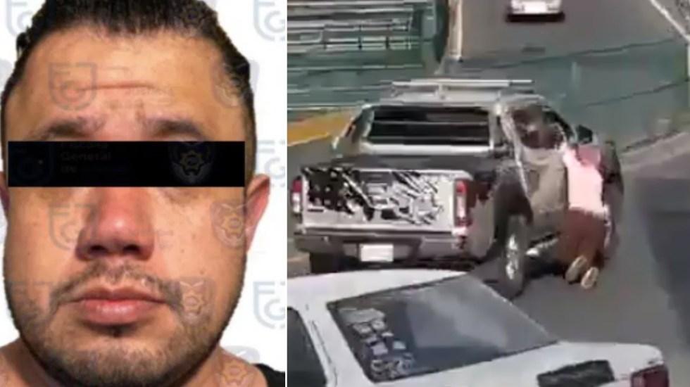 Vinculan a proceso a Guillermo 'N', sujeto que arrastró a mujer en San Jerónimo tras percance vehicular - Guillermo N camioneta agresor