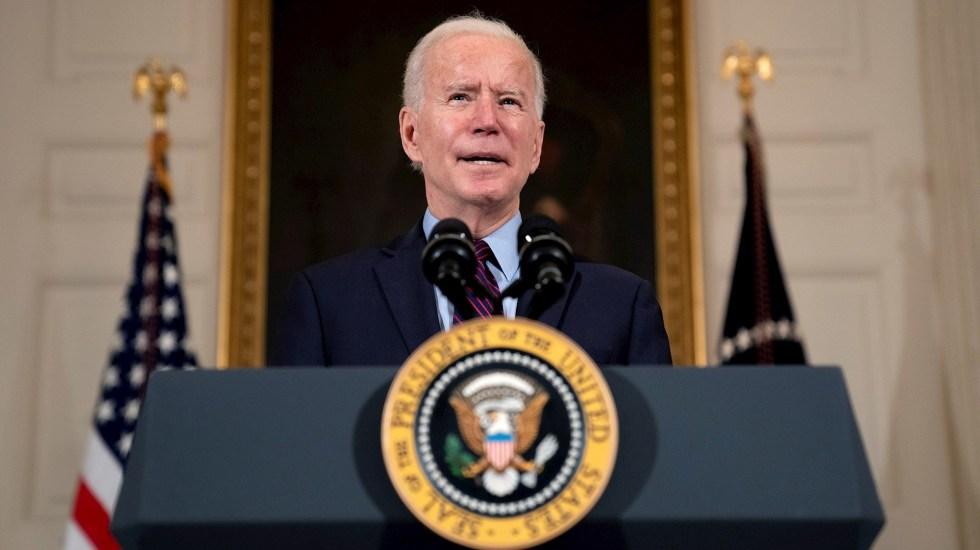 Biden y Trudeau tendrán su primera reunión virtual el próximo martes - El presidente de EE.UU., Joe Biden. Foto de EFE/ EPA/ Stefani Reynolds.