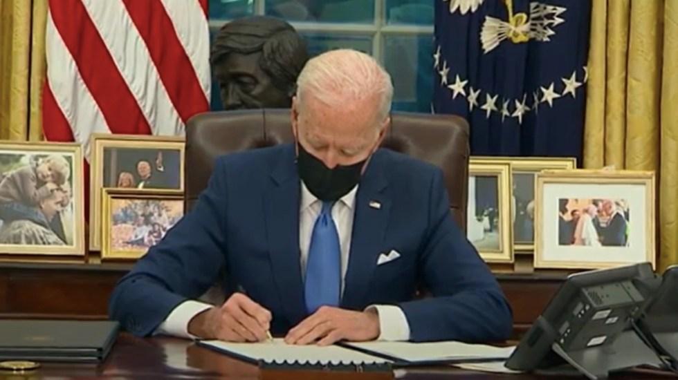 """""""Estamos eliminando una mala política en migración"""", asegura Biden tras firma de tres órdenes ejecutivas - Captura de pantalla"""