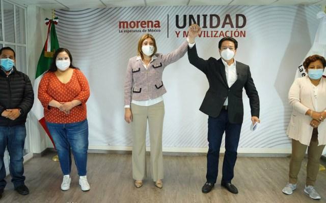 Mónica Rangel será candidata de Morena a la gubernatura de SLP - Mario Delgado y Mónica Rangel. Foto de @mario_delgado