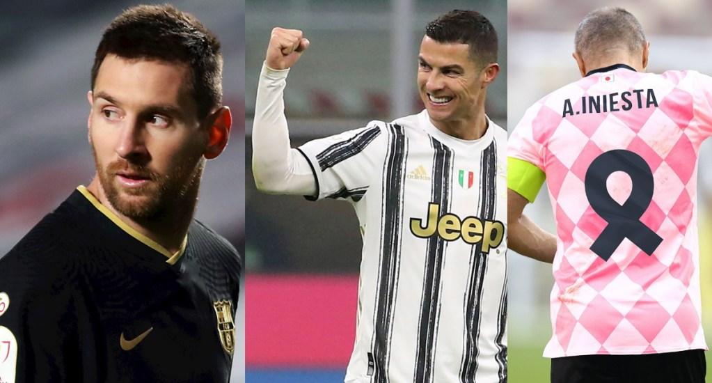 Messi, Ronaldo e Iniesta, los tres mejores futbolistas de la década 2011-2020 - Messi Cristiano Iniesta