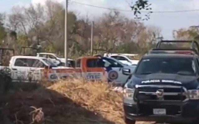 Localizan 22 cuerpos en fosa clandestina de Celaya - Movilización policial en Celaya por hallazgo de fosas clandestinas. Foto de Foro Tv