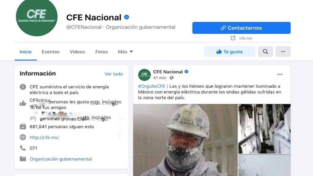Con imágenes 'fake', CFE agradece a trabajadores que apoyaron al restablecimiento de la electricidad - Captura de pantalla,. Facebook CFE