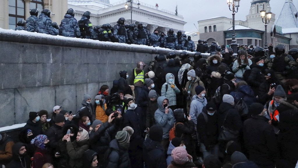 Rusia expulsa a tres diplomáticos europeos por acudir a protestas opositoras - Foto de EFE/ EPA/ SERGEI ILNITSKY.
