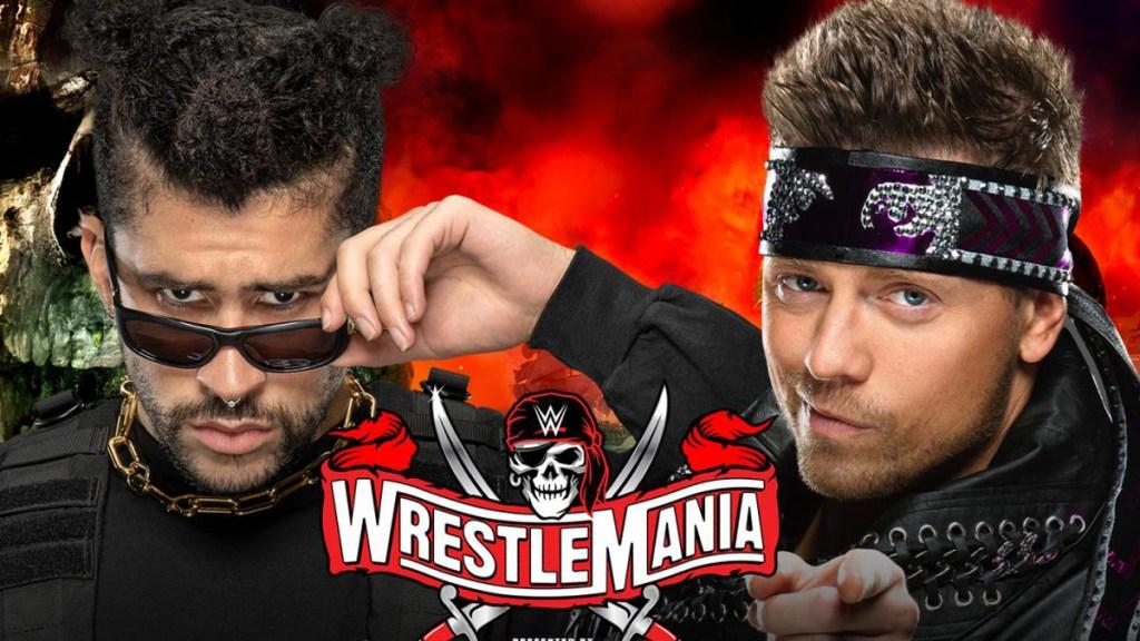 Bad Bunny debutará como luchador en WrestleMania el 11 de abril - Bad Bunny vs The Miz. Foto de Wrestlemania