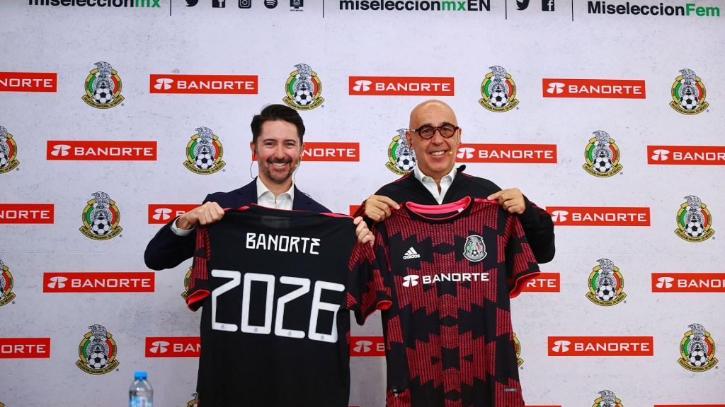 Banorte, nuevo patrocinador oficial de la Selección Nacional - Grupo Financiero Banorte, Patrocinador oficial Selección Nacional de Futbol. Foto de Federación Mexicana de Futbol.