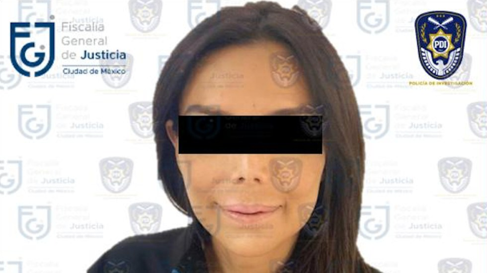 Congelan cuentas bancarias a Diana Sánchez Barrios, acusada por extorsión y robo en pandilla - Foto de FGJ CDMX