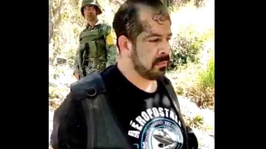 Detienen a presunto líder del CJNG tras enfrentamiento entre civiles y elementos de la Guardia Nacional en Rincón de Guayabitos, Nayarit - El M3 presunto líder del CJNG. Foto tomada de video