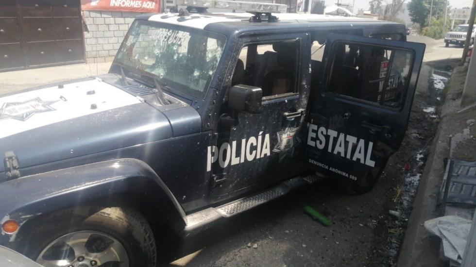 Asesinan en segunda emboscada a cuatro policías de Edomex - Emboscada a policías en Almoloya de Alquisiras. Foto de @RamkarC