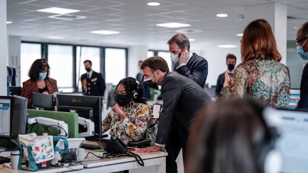 Macron, Merkel, Sánchez y otros 22 líderes buscan tratado sobre pandemias - Emmanuel Macron, presidente de Francia. Foto de EFE