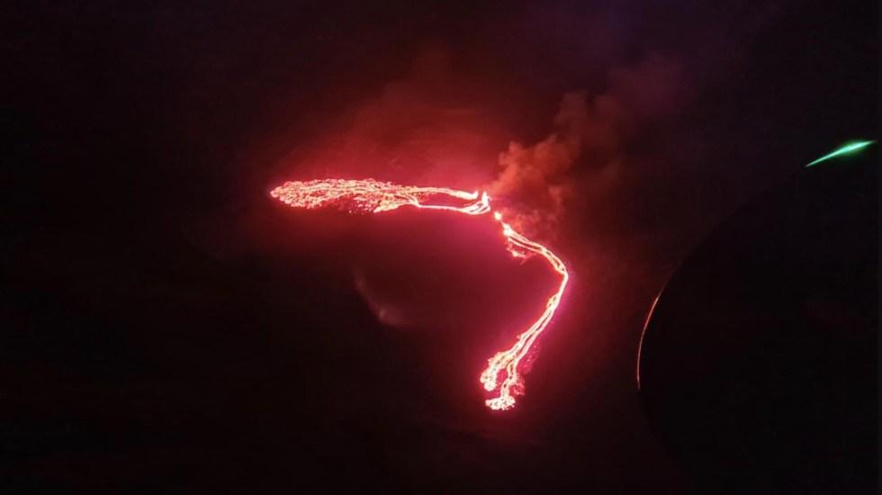 #Video Volcán estalla cerca de la capital de Islandia - Erupción volcánica en Islandia. Foto de @Vedurstofan