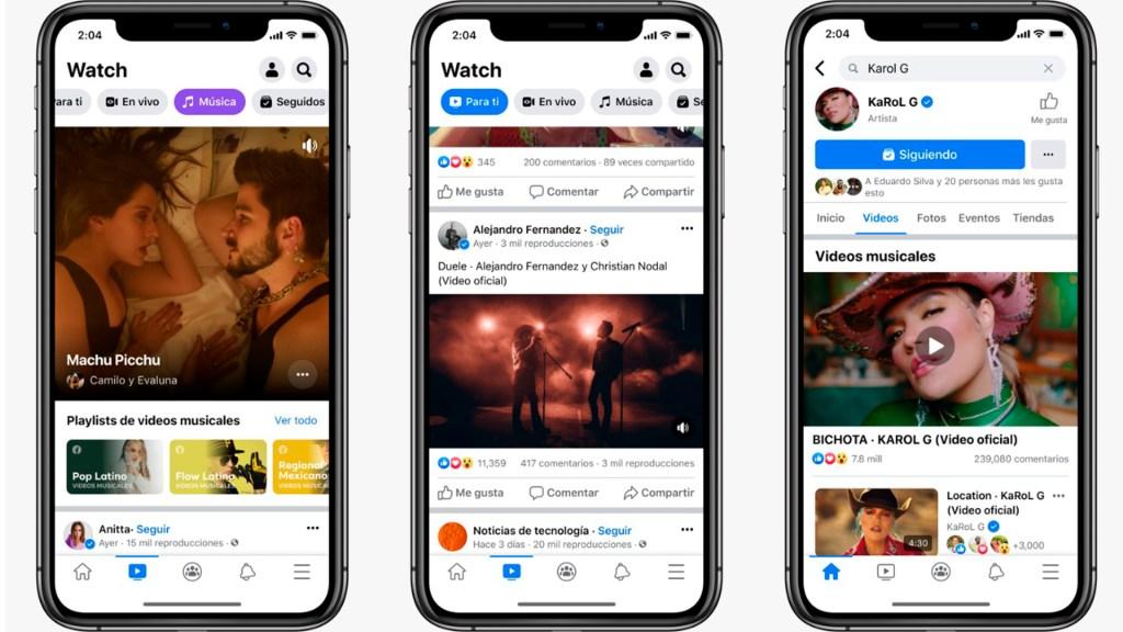 Facebook presenta videos musicales en México - Facebook lanza 'Música', su sección de música en México. Foto de Facebook.