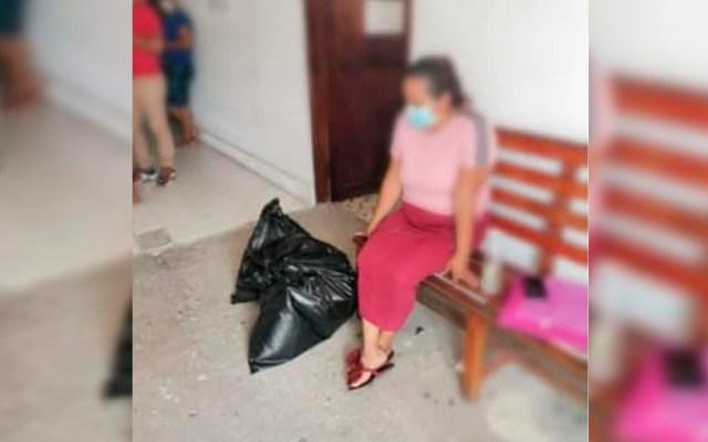 Fiscalía de Veracruz entrega en bolsas de basura restos de víctima de desaparición - Fiscalía de Veracruz entregó a mujer los restos de su hijo en bolsas de basura. Foto de Madres en Búsqueda Coatzacoalcos