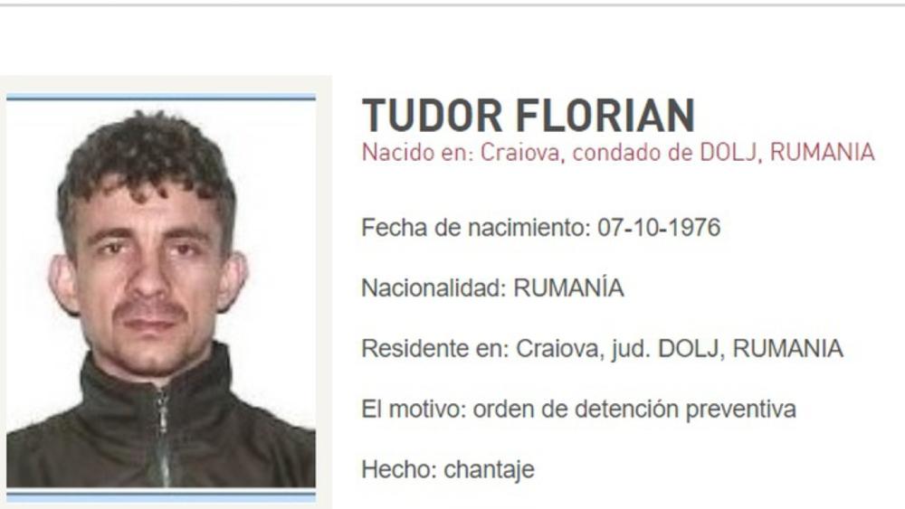 Florian Tudor, entre los criminales más buscados por Rumania - Foto de Milenio