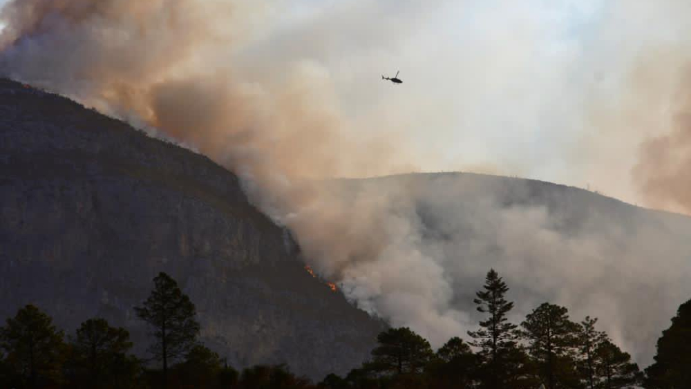Incendio en Sierra de Arteaga fue usado para afectar a su gobierno, asegura AMLO - Foto de @mrikelme