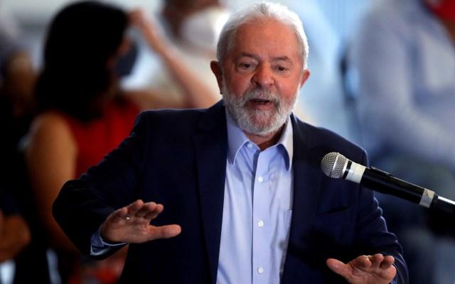 Lula da Silva agradece 'solidaridad' de Alberto Fernández, el papa Francisco y otros líderes - Lula da Silva en conferencia de prensa desde Sao Bernardo do Campo, Brasil. Foto de EFE