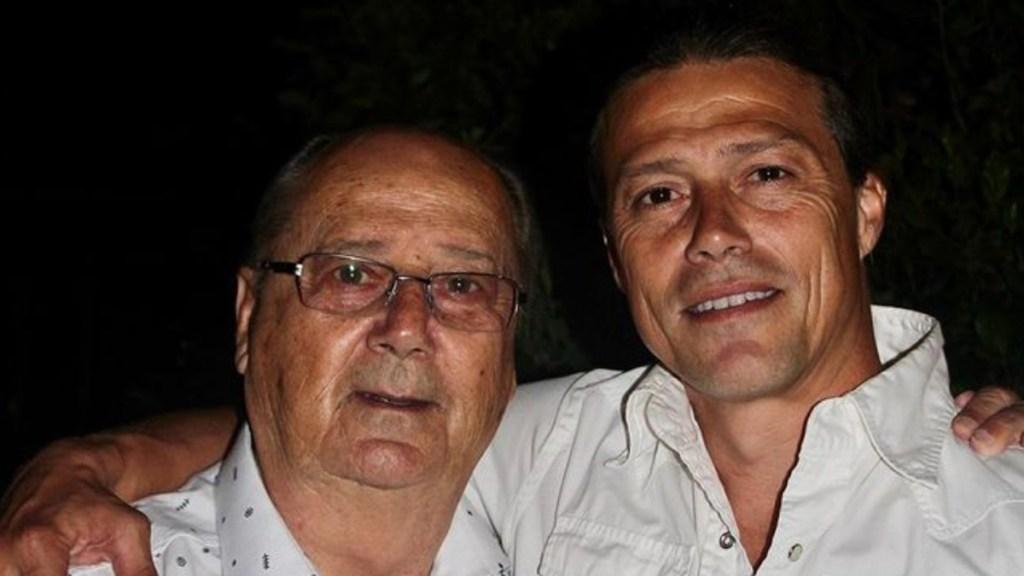 Murió por COVID-19 el padre de Matías Almeyda - Matías Almeyda junto a su padre, Óscar Almeyda. Foto de @peladoalmeyda