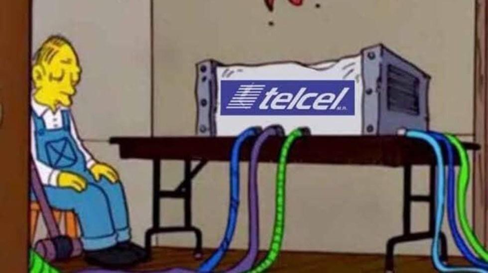 Se cae red de Telcel en el país; usuarios reaccionan con memes - Meme por falla de red de Telcel. Foto de Twitter