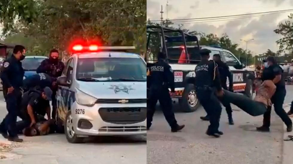 #Video Muere mujer en Tulum tras ser sometida por policías - Tulum salvadoreña policías Tulum