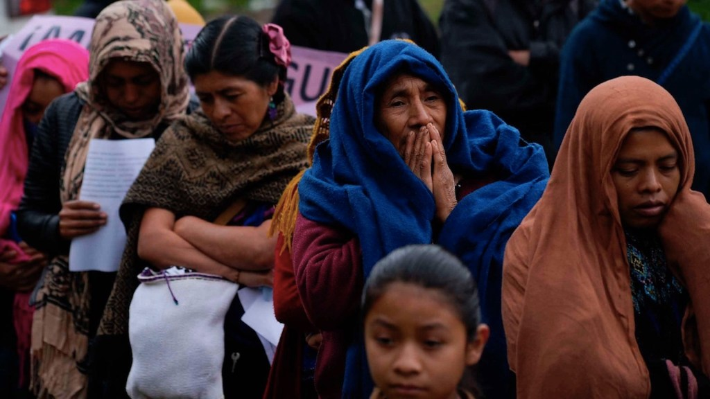 Mujeres indígenas protestan en el sureste de México por el #8M - Foto de EFE